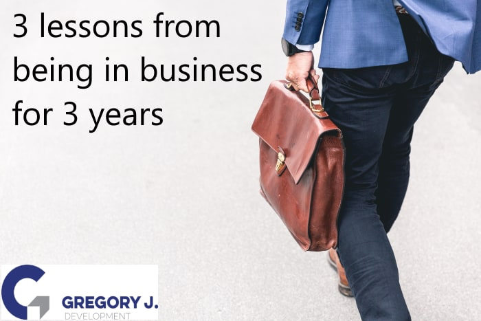 3 lessons from being in business for 3 years