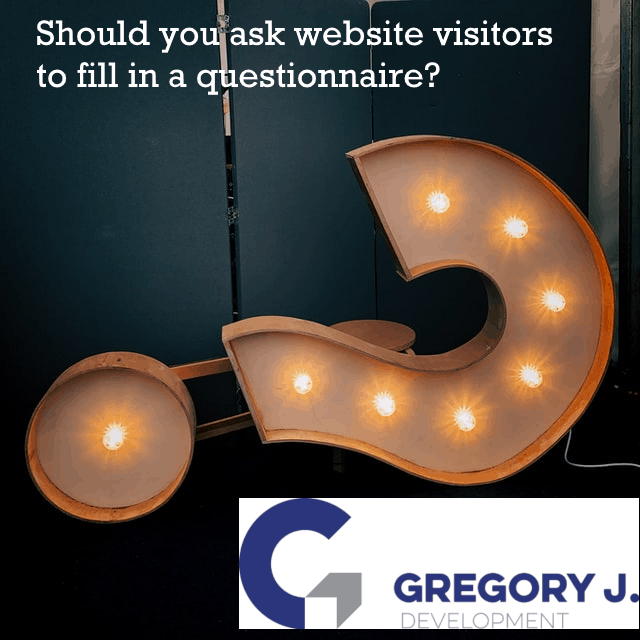 Should you ask website visitors to fill in a questionnaire?