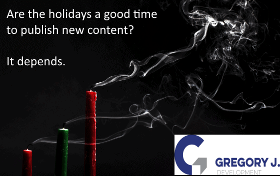 Read more about the article Are the holiday's a good time to publish new content? It depends.