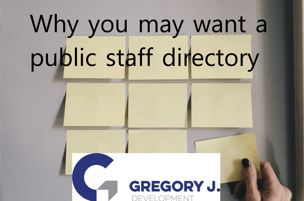 Why you may want a public staff directory